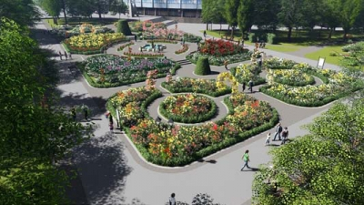 The Rosarium in Borisova Gradina Park is being Renovated